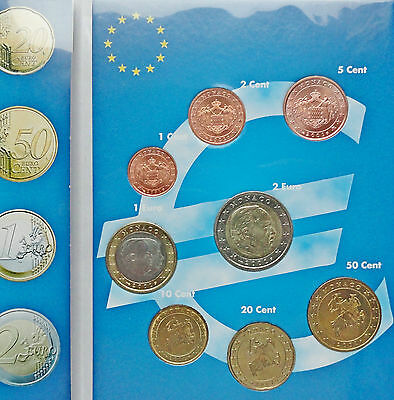 2001 MONACO KMS ORIGINAL COINS 1 Cent - 2 Euro From STARTER KIT  ABSOLUTLY NEW!!