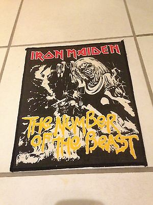 Iron Maiden Number Of The Beast Original 80's  Back Patch Lovely Condition Metal