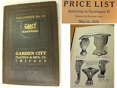 Antique 1928 Garcy Hardware Catalog No.25 Price List Grates Grilles Drawer Pulls