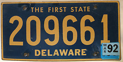 Vintage Delaware The First State License Plate