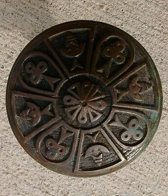 Antique Victorian Eastlake Brass Door Knob with Patina Floral or Flower design