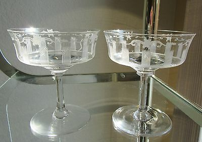 Two Desert Glasses with Strips