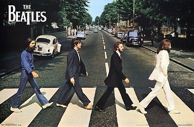 The Beatles Poster Music Classic Abbey Road Entertainment Collectible NEW