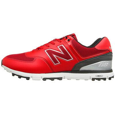 New Balance 574 Mens Spikeless Golf Shoes - Red / Black