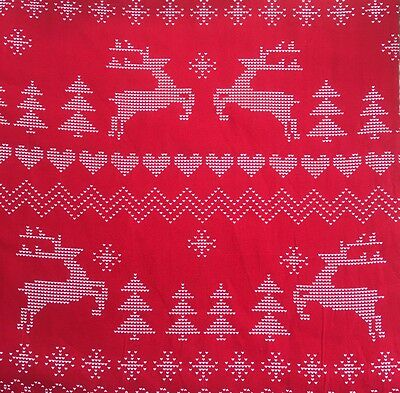 NEW Custom Made Childrens Adults Square Hankie Handkerchief 30x30cm CHRISTMAS