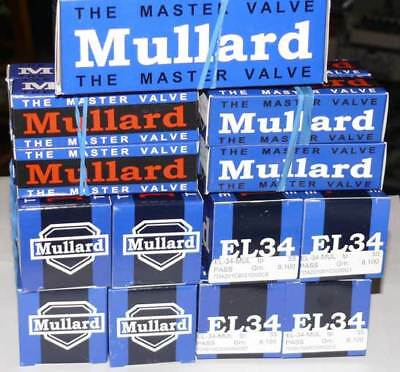 Brand NEW QUAD Mullard R.I. EL34 Reissue EL 34 IN STOCK Made in Russia Tubes
