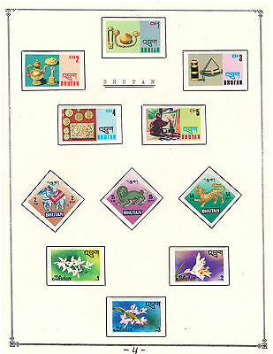 Bhutan Amazing Collection V.F. Mint Stamps Hinged on list lot#4