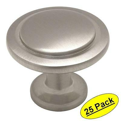 25 Pack Satin Nickel Finish Cabinet Drawer Door pull  Hardware Heavy Metal Knobs
