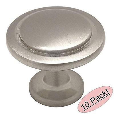 10 Pack Satin Nickel Finish Cabinet Drawer Door pull  Hardware Heavy Metal Knobs