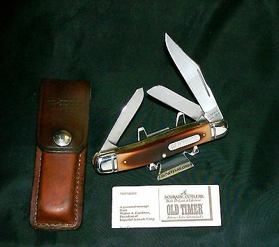 """Schrade 858OT Knife & Sheath """"The Lumberjack"""" Circa-1970's Old Timer W/Papers"""