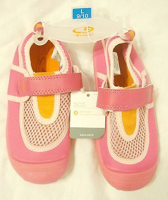 Pink Kids Water shoes NEW Champion Aqua Sock Toddler Girls LARGE sz 9/10 Nwt