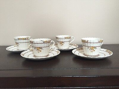 Set Of 4 Spode Buttercup Demitasse Cups and Saucers