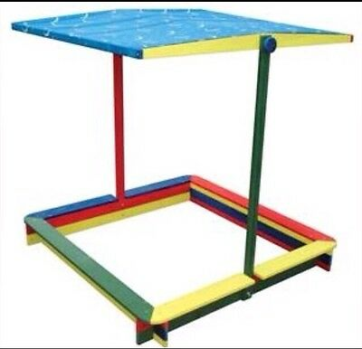 NEW Sandpit Adjustable Canopy Outdoor Sand Pit Toy FREIGHT OK
