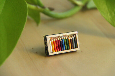 Miniature Colour Pencil Brooch Handmade