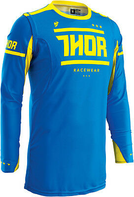 NEW Thor Mx Prime Fit Squad Blue Yellow Adult Motocross Dirt Bike Jersey