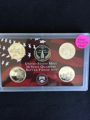 2000 Silver Proof State Quarter Set With Orig Lense No Box SP26