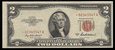 1953-A $2 Red Seal *star* United States Note ***uncirculated***