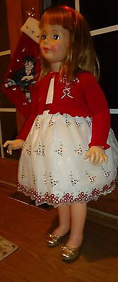"""Beautiful Holiday Embroidered Dress For 35"""" Patti Playpal Doll Clothes Sweet!!"""