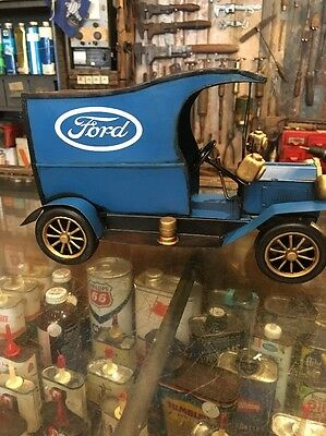Ford Tin Toy Truck Blue