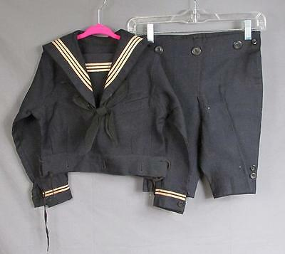 Vintage Antique US Navy Childrens Cracker Jack Uniform Top/Shorts Small Sz.Doll