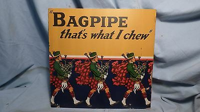 Vintage Bagpipe Chewing Tobacco Sign-Tobaccoiana
