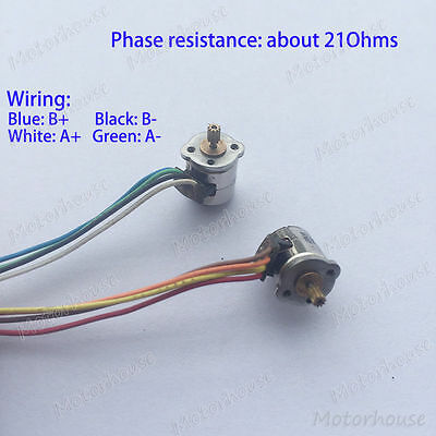 10PCS 2-Phase 4-Wire Stepper Motor 8mm Micro Mini Stepper Motor with Copper Gear