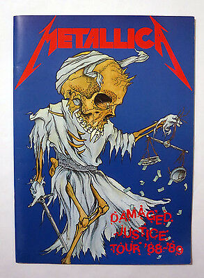 Metallic Damaged Justice Tour 1988/1989 Concert Tour Program Book JAPAN Pushead
