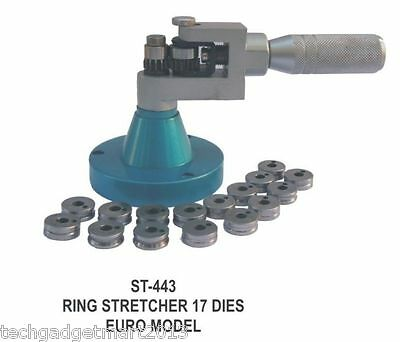 Jewelers Ring Stretching Tool With 17 Dies St443