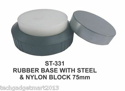 Steel And Nylon Jewelers Bench Block With Rubber Base St331