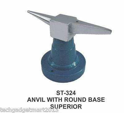 Anvil with round base goldsmith steel jeweler tool st324
