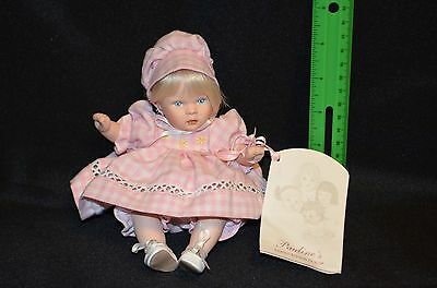 """Collectible doll by Pauline """"Penny"""" 8"""" with COA Porcelain/cloth"""