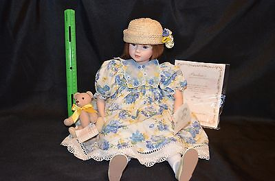 """Collectible doll by Pauline """"Maggie"""" 442 of 950 w/COA, box Porcelain 21"""" tall"""
