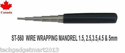 wire jump ring wrapping mandrel 1.5- 2.5-3.5-4.5-5 mm jeweler tool st560