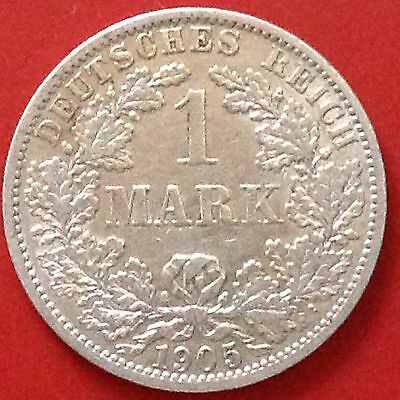 1905-A Germany Empire Silver 1 Mark Coin