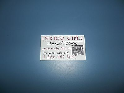 Indigo Girls Swamp Ophelia Promo Only Information Card (Business Card Type)