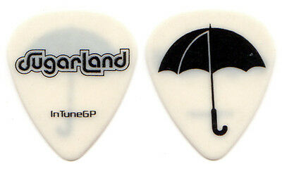 SUGARLAND Guitar Pick : 2009 Tour - umbrella white InTuneGP Jennifer Nettles