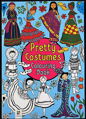 Pretty Costumes Colouring Book - Hinkler Art Craft World Fashion Countrys Fun