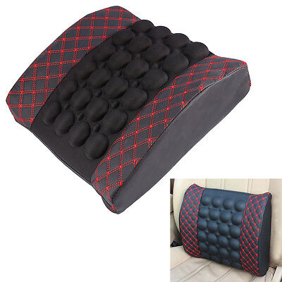 Car Electric Massage Cushion Lumbar Vibrate Back Cushion Waist Support Pillow