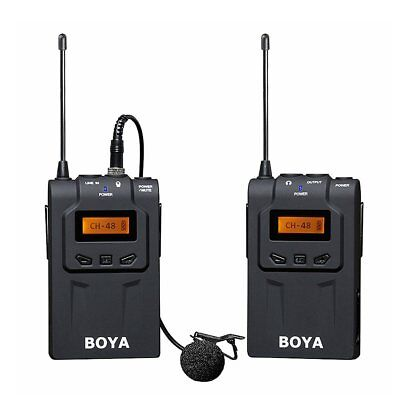 BOYA BY-WM6 UHF Professional Omni-Directional Wireless Lavalier Microphone