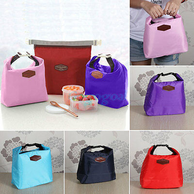 Thermal Small Portable Insulated Cooler Picnic Storage Bag Lunch Carry Tote UK