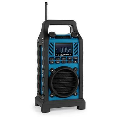 Brand New Blue Portable Compact Builders Stereo Durable Shock Splash Proof Usb