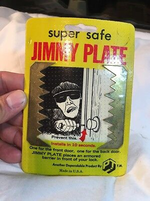 Vintage Safety Super Safe Jimmy Plates Hardware Made In The Usa