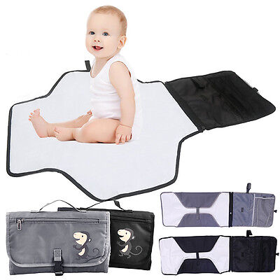 Large Size Portable Kids Baby Infant waterproof Changing Mat Diapers Nappy Bag