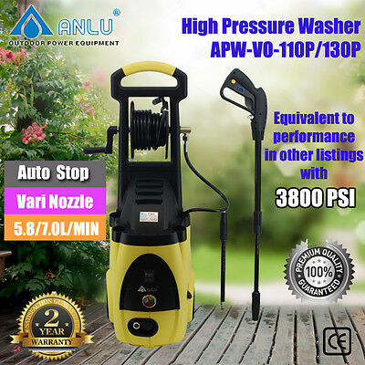 Anlu HighPressure Water Cleaner Washer Electric Pump Hose Gurney APW-VO-110/130P