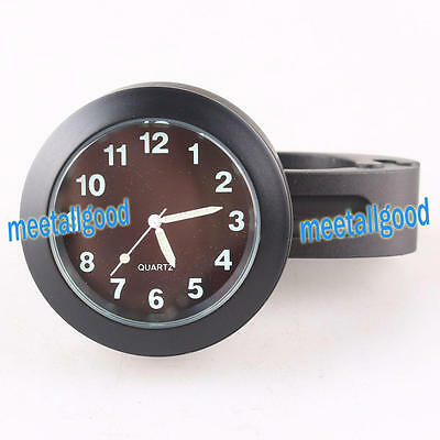 "Universal Motorcycle 7/8"" Handlebar Mount Bar Quartz Clock Watch Waterproof YS"