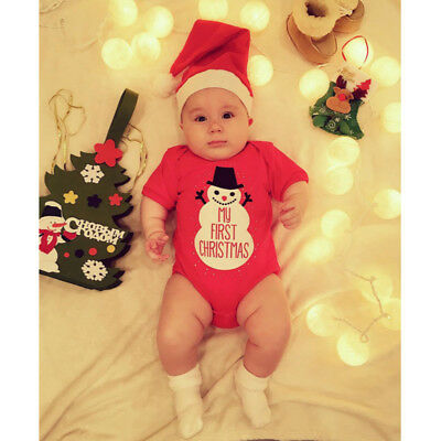 My First Christmas Romper Suit - Unisex