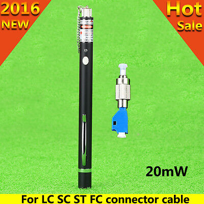 Fiber Optic Cable Test 20mW Visual Fault Locator FC-LC Connector to FC LC ST SC