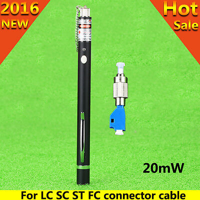Pen Type 20mW Visual Fault Locator Fiber Tester FC-LC Connector for FC LC SC ST