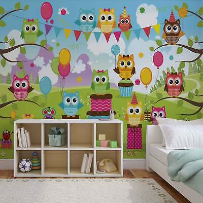 WALL MURAL PHOTO WALLPAPER XXL Owl Party (1375WS)