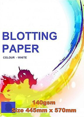 BLOTTING PAPER 3 SHEETS PACK OFFICE CALIGRAPHY WHITE 44.5cm x 57cm 140gsm